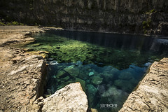 DSC_9372 (Scott's-101 Photography) Tags: derelict derbyshire quarry bluelagoon blue lagoon clearwater bluesky rockface summersday summer day daytrips rocky hidden england