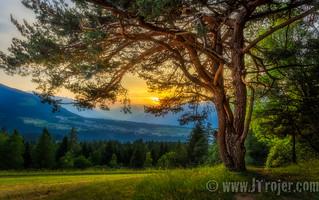 Sunset over the Inn valley