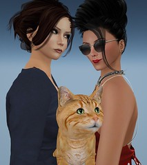 Family Matters (alexandriabrangwin) Tags: alexandriabrangwin mondybristol secondlife 3d cgi computer graphics virtual world photography married lesbian couple wife partner cat ginger pussy group shot photo together holding pet family