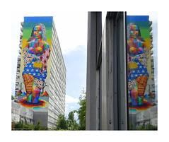 OKUDA (BE'N 59. Street photographer) Tags: streetart paris okuda monalisa lajoconde