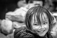 Glimpse Of Inocency (jorgedcar) Tags: kids nepal dingboche bw inocency smile himalayas