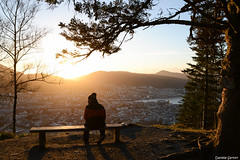 Bergen Sunset (Daniele Sartori) Tags: norway norvegia bergen winter inverno europa europe travel viaggio trip nikon d600 city città sunset tramonto silhouette profilo gold oro luce light