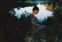 . (SoWiL(d)) Tags: girl riverside summer analog instantfilm