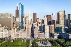 Early Morning in Millenium Park (jeff_a_goldberg) Tags: aerialphotography summer drone dji mavic chicago millenniumpark djimavicpro mavicpro hdr illinois unitedstates us