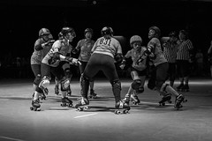 2017 Houston Roller Derby Game 5 (burnt dirt) Tags: houston texas downtown city town girl woman man couple group crowd spectator asian cute sexy smile laugh angry mad crazy skirt shorts tights yogapants leggings boots skates longhair shorthair shadowmbright reflection blonde stockings athlete exercise streetphotography documentary portrait fujifilm xt1 bw blackandwhite tattoo rollerderby houstonrollerderby jammer pivot blocker wftda psychwardsirens brawlers sirens bayoucitybosses bosses valkyries retention retentionmusiccenter bayoucityplace