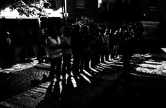 Night prayer (A. Yousuf Kurniawan) Tags: prayer night nightphotography dark shadow moslem streetphotography streetlife streetphoto blackandwhite monochrome silhoutte lowkey islam