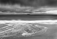 Harlyn Tide (Bruus UK) Tags: padstow cornwall harlyn beach tide wave shore sand shapes beauty sea ocean coast cloudy stormy surf waves watern patterns seascape pentax movement sweeping current riptide