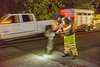 Traffic moves alongside a worker (OregonDOT) Tags: oregondot oregonstatepolice kniferivercorporation workzone workzonesafety construction oregon odot safety patrol enforcement police woodburn interstate5 i5