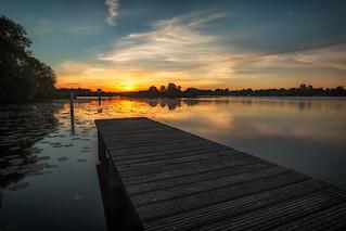 Ein schöner ruhiger Morgen am Steg