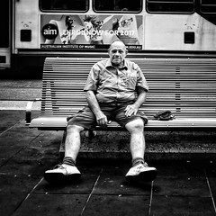 """""""I'm not in this world to live up to your expectations and you're not in this world to live up to mine."""" - Bruce Lee (michelle-robinson.com) Tags: adelaideartist adelaidephotographer squareformat people xt10 candid society melbourne documentary bw man australia editedonipadair everyday oldman life everydayaustralia photography dailylife victoria cityliving blackandwhite streetphotography blackandwhitephotography sitting flickrelite bench 4tografie outdoors snapseed michellerobinson streetlife urban portrait realpeople resting monochrome elderly fujifilm storytelling candidportrait street"""