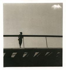 Woman on the bridge (Alexander Tkachev) Tags: alternativephotography altprocess palladiumprint berggercot320 digitalnegative contactprinting venice alexandertkachev