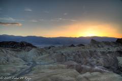 Sunset with Clouds at Zabriskie Point (taharaja) Tags: cactus california deathvalley desert furnacecreek ghosttown jeeping lowestpoint nationalpark offroad oldtown racetrack sealevel zabriskiepoint lakebed movingstones slatflats unitedstates