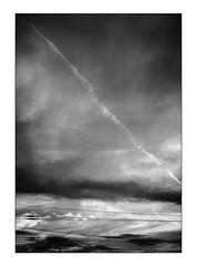 disturbed sky (BenedekhorvatH) Tags: mono monochrome black blackandwhite blackwhite white contrast light dark nikon d7100 outdoor sky nature line wire