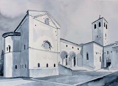 Il duomo di San Leopardo - Osimo (Tommaso Manzi Watercolour) Tags: acquerello watercolor manzi tommaso manzitommaso osimo marche sanleopardo san leopardo provincia di ancona