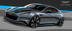 Aston Martin Confirms RapidE: The Brand's First All-Electric Model (Automotive Rhythms) Tags: aston martin confirms rapide the brand's first allelectric model electricsupercars