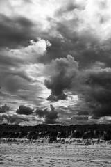 Tumultuous sky (ChrisJWallace) Tags: adventure bw beach clouds coast curracloe fujifilm ireland monochrome nature outdoors sea sky storm summer travel wexford xt1