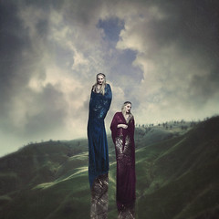 ghost marble (sparkbearer) Tags: chelseaknight fineartphotography digitalart darkart fantasy marble ghosts sky clouds surreal