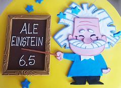 Little Einstein is 6.5 (adrianarosati) Tags: cake cakedesign cakedecoration chocolate icing royalicing sugar yellow einstein