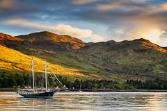 Yacht In Summer Sun, Isle of Rum (mark_mullen) Tags: yacht summersun lochscresort isleofrum isleofrhum smallisles innerhebrides scotland island scottish kinloch canon24105f4 canon5dmk3 markmullenphotography