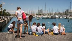 last selfie (dACE :)) Tags: 28mm barcelona docks fotodiox gent gente gotic harbour mar people port puerto sigma catalunya españa es selfie teens barceloneta