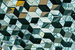 Harpa ceiling #2 (catoledo) Tags: 2017 reykjavik cityscape iceland geometrical repetition glass reflections harpa