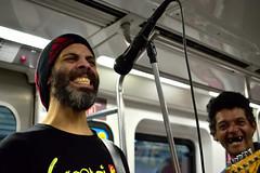 Surprise in da corner (Walmart) Tags: smile people singing subway music happy 2 guitar band microphone random
