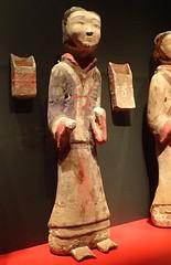 Archer figurine from the tomb of the King of Chu Baidong Mountain Xuzhou, Jiangsu, China Western Han period 2nd century BCE Earthenware (2) (mharrsch) Tags: soldier archer figurine statue tomb burial funerary kingofchu baidongmountain xuzhou jiangsu westernhan 2ndcenturybce exhibit tombtreasures asianartmuseum sanfrancisco california mharrsch