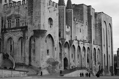 Palais des Papes #3 (A. Nothstine) Tags: avignon provence south france town winter christmas blackwhite architecture history popes palace