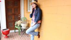 Howdy Stranger (Fanta_Productions) Tags: smoking smokingfetish girlswhosmoke boots cowgirlboots girlswearingcowboyboots cowboyhat hat cowgirlhat