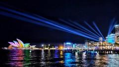 Sydney Spotlight (@ThetaState) Tags: nightlights spotlights projection lightmapping operahouse reflection water lights night vividsydneyfestival australia sydney