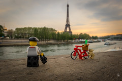 Marcel, a Parisian in Paris (Ballou34) Tags: 2017 7dmark2 7dmarkii 7d2 7dii afol ballou34 canon canon7dmarkii canon7dii eos eos7dmarkii eos7d2 eos7dii flickr lego legographer legography minifigures photography stuckinplastic toy toyphotography toys paris îledefrance france fr 7d mark 2 ii eos7d stuck plastic paris7earrondissement bread baguette dog cloud cloudy clouds berret stripes moustache parisian bike bicycle eiffel tower