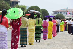 Kalaw procession (@Mark_Eveleigh) Tags: asia asian burma burmese east indochina myanmar south kalaw heho shan state ceremony buddhist festival procession carnival costume traditional