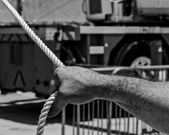 _DSC3331 (joaodematos.photography) Tags: pretobranco bw abstrato braço mão corda puxar força strong arm hand abstract monochrome rope