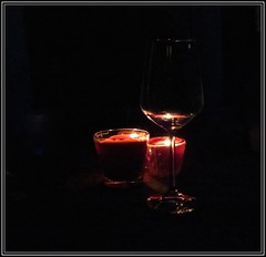 3319 v1 Candles and glass (Andy - Busyyyyyyyyy) Tags: candles ccc day01 fff fjordholiday flames ggg glass wine wineglass www