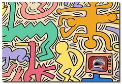 The intruder.... (Corinaldesi Roberto) Tags: murales haring colors pisa art