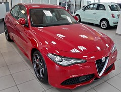 My All New Alfa Romeo Giulia Veloce (iBSSR who loves comments on his images) Tags: my all new alfa romeo giulia veloce 19 sport design quadrifoglio rosso code 414 packsuperveloce autobiermans heerlen business 20at8 explored jul112017399explore