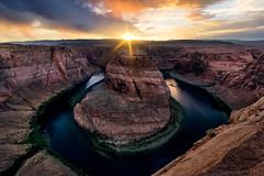 Supercollider (david.mavricos) Tags: horseshoebend pageaz coloradoriver sunset sonya6000 sony sunburst river canyon landscape outdoor