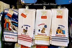 NICE DISH TOWELS as SOUVENIRS (guylafortune) Tags: souvenir island greek santorini towels dish vaisselle de linges