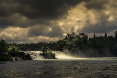 Rheinfall (vlastimil_skadra) Tags: atmosphere adventure awesome beautiful beauty clouds cloud scenery discovery d810 dramaphoto drama europe earth ngc magic light nikon sky water wow waterfall landscape landscapes photography picsoftheday panorama nature natur rocks rock river travel traveling switzerland