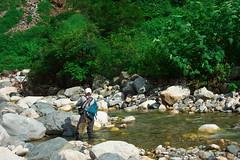 FlyFisher DSC_3728 (touhenboku) Tags: iwana char fly fishing flyfishing stream branch water rock