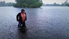 bathtime (marcostetter) Tags: wet wetclothing wetclothes wetlook wetjeans wetshirt water lake landscape bluejeans