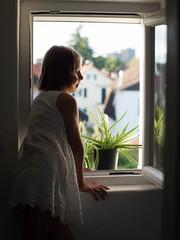 feel free. (dawiddawidowski) Tags: laura sister siostra schwester window okno fenster plants rosliny pflanzen