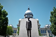 Springfield Illinois (shock264) Tags: springfiled illinois abe lincoln abraham travel tourism tourist law lawyer attorneyatlaw attorney stae capitol architecture history landscape statue icon iconic bronze blue green sky white abolitionist rights judgement judge president usa lawmaker learning school education