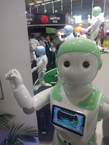 Robot greeting