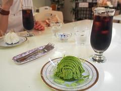 鎌倉 Sakura (INZM.) Tags: japan kamakura 鎌倉 北鎌倉 sakura サクラ 抹茶 モンブラン アイスコーヒー icedcoffee coffee cake ケーキ greentea デザート dessert