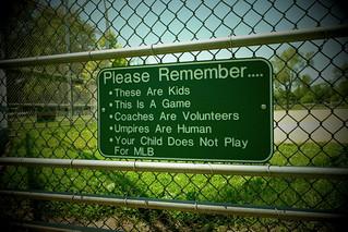 Youth Baseball Etiquette. (X70)