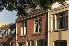 The Golden Hour (natures-pencil) Tags: terrace building architecture goldenhour goldenlight naturallight sidelight texture wittevrouwen utrecht nederland netherlands