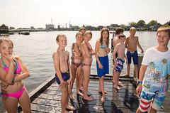 Swimming in the Zaan river - Holland (ZaaziPix) Tags: zaan zaanseschans zaandijk zaandam swimming summer summerheat water jumping visitholland youth zaazi zaazipix rinekedijkstra