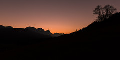 greater than the sun (>>nicole>>) Tags: alpen alps bavaria bayern berge geroldsee himmel mountains silhouette sky sonnenuntergang sunset wagenbrüchsee zugspitze