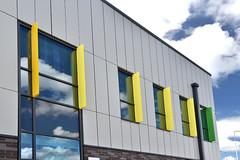 Wigan Fire Station (7) (jamesutherland) Tags: curtainwall curtainwalling glazing glass technal dualseal